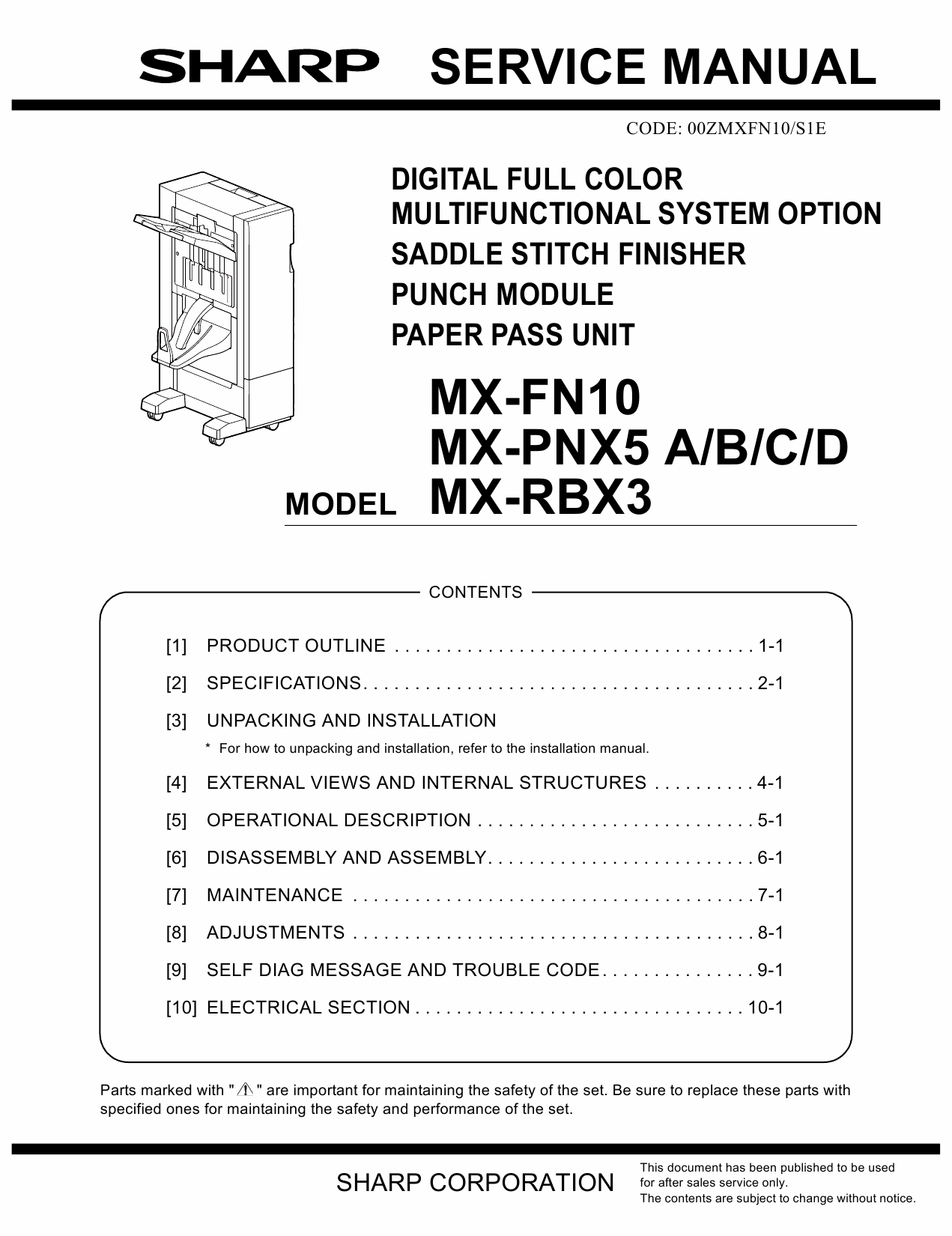 SHARP MX FN10 PNX5 RBX3 Service Manual-1